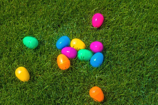 image of plastic easter eggs